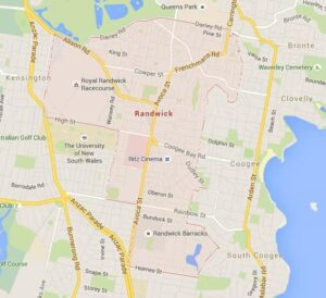 Map of Randwick, NSW