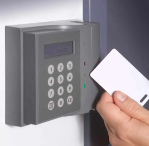 Keycard access in a commercial environment.