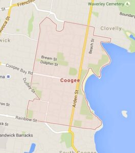 Map of Coogee